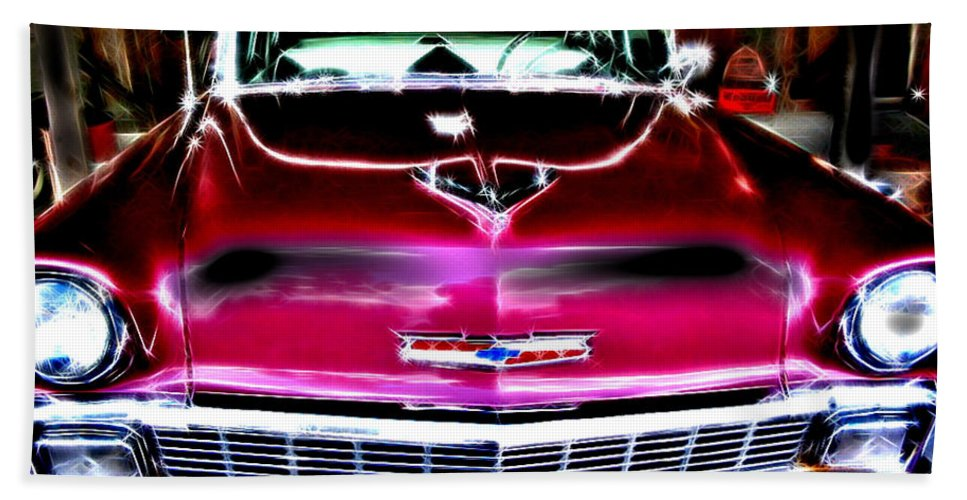 Chevy Bath Sheet featuring the digital art Classic Chevy by April Patterson