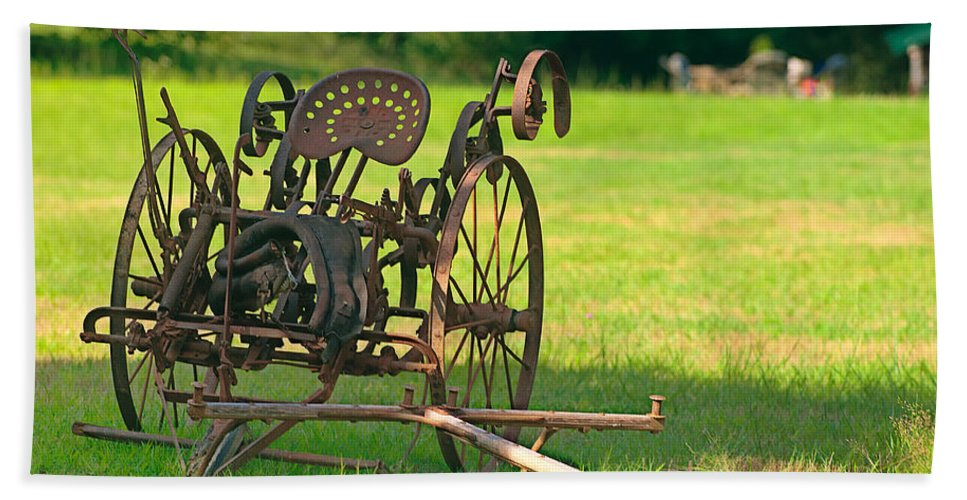 classic Farm Equipment Hand Towel featuring the photograph Classic Farm Equipment by Paul Mangold