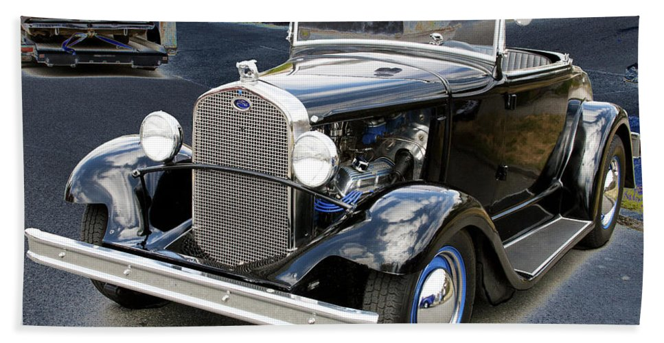 Ford Bath Sheet featuring the photograph Classic Ford by Victoria Harrington