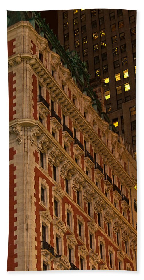 """new York City"" Hand Towel featuring the photograph Classic Nyc by Paul Mangold"