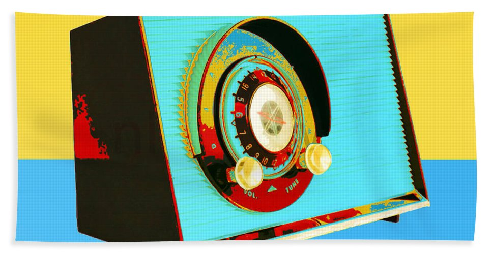 Transistor Radio Hand Towel featuring the photograph Classic Rock by Dominic Piperata