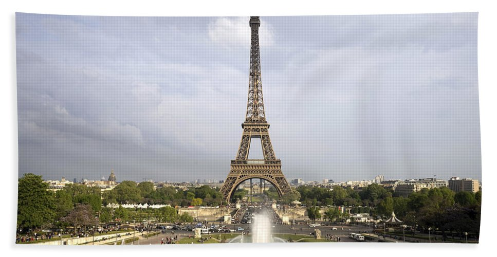 Paris Hand Towel featuring the photograph Classic View Of Paris by For Ninety One Days