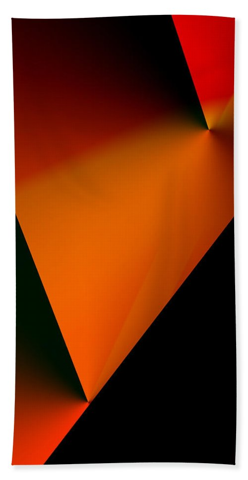 Abstract Hand Towel featuring the digital art Clean Angled Composition by Ian MacDonald