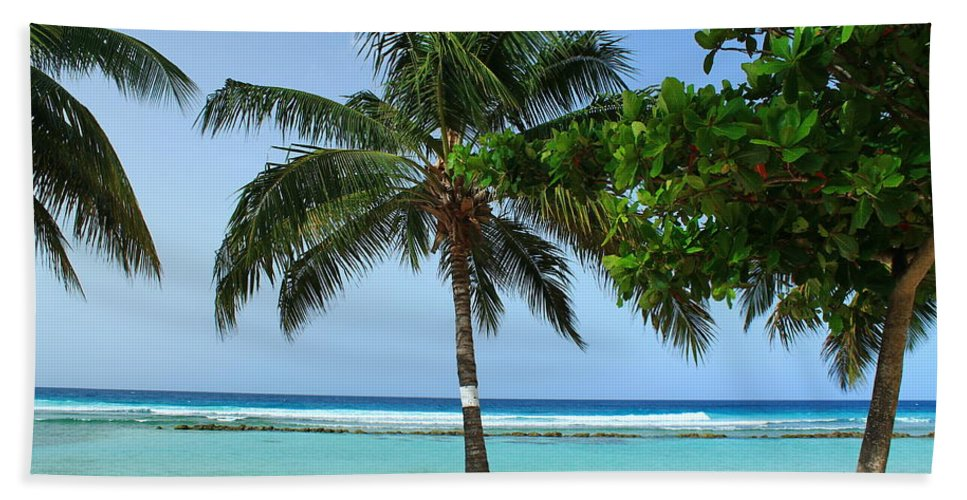 Barbados Bath Sheet featuring the photograph Clear Blue Ocean by Catie Canetti