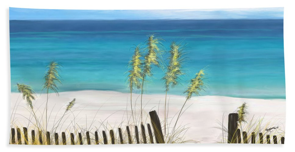 Beach Hand Towel featuring the digital art Clear Water Florida by Anthony Fishburne