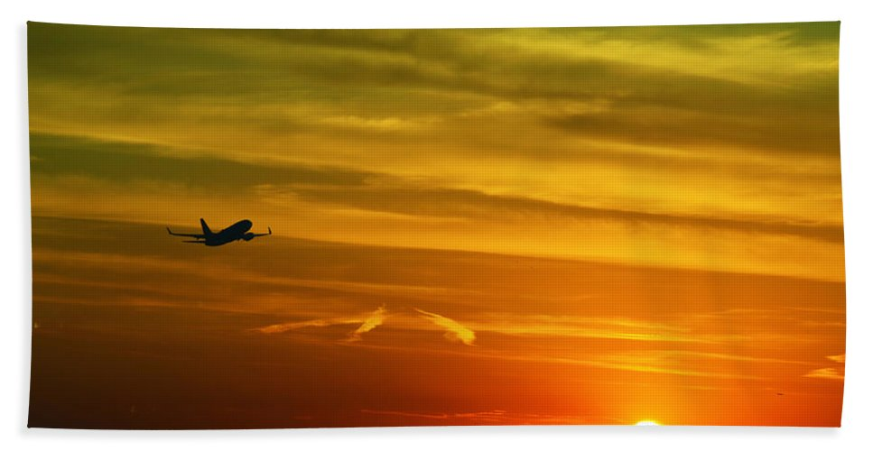 Take Off Hand Towel featuring the photograph Cleared For Takeoff by Gary Mosman