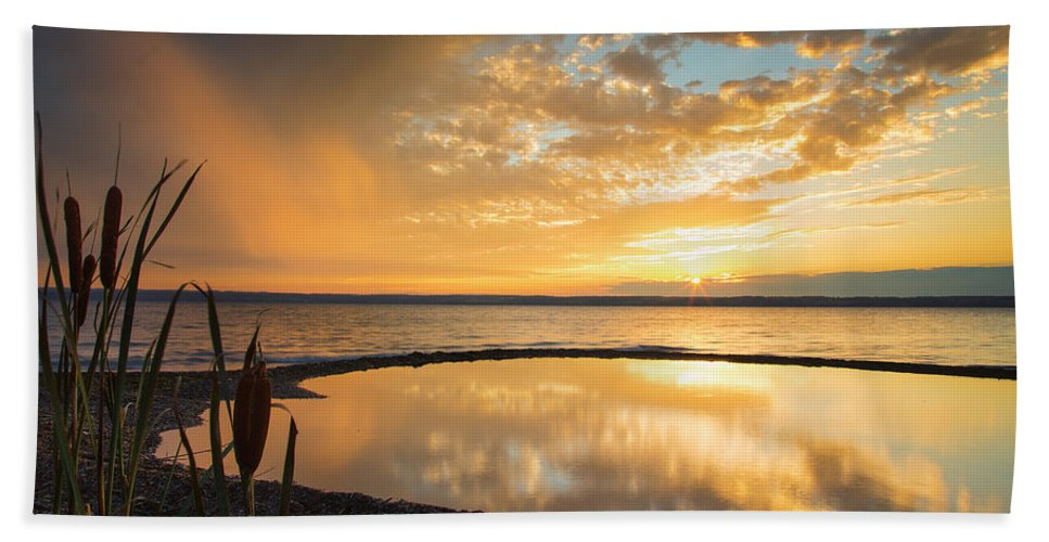 Michele Hand Towel featuring the photograph Clearing Rainstorm by Michele Steffey