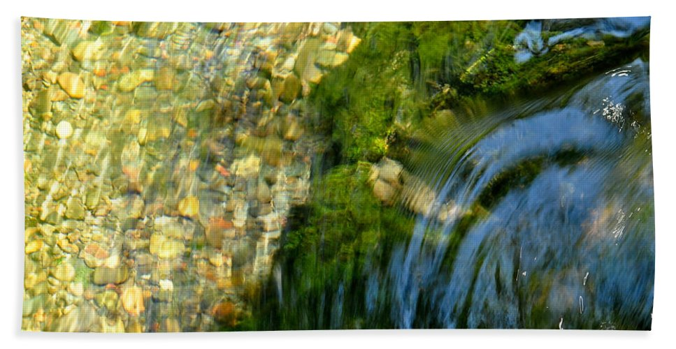 Water Bath Sheet featuring the photograph Clearwater Falls Series 11 by Teri Schuster