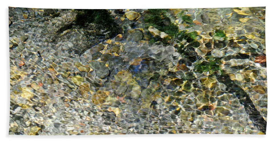 Blue Bath Sheet featuring the photograph Clearwater Falls Series 5 by Teri Schuster
