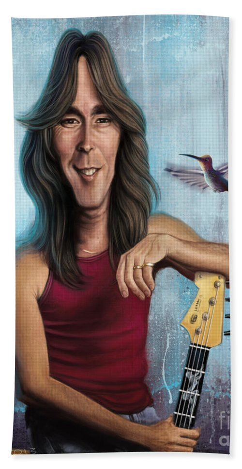 Cliff Williams Bath Sheet featuring the digital art Cliff Williams by Andre Koekemoer