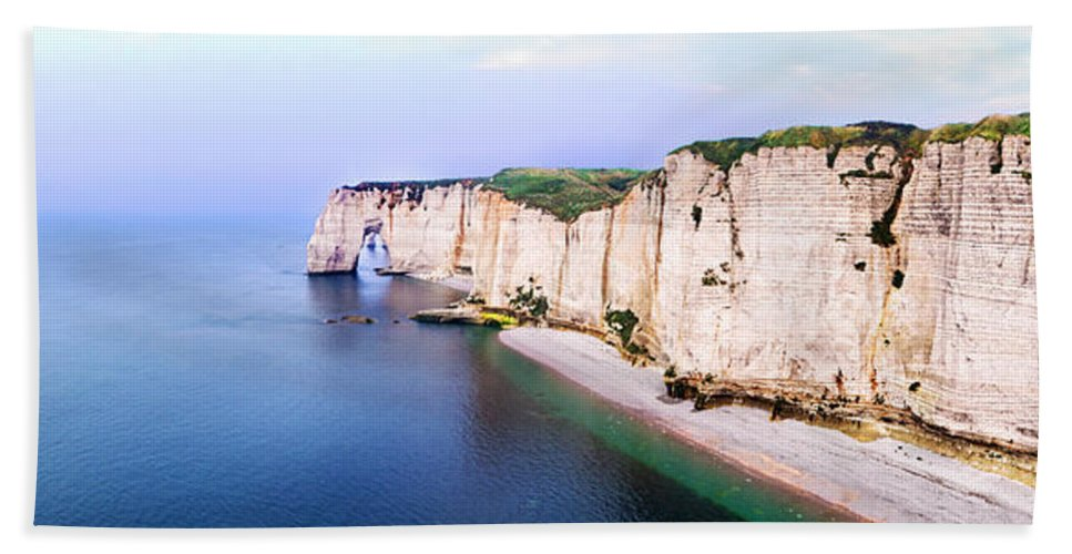 Cliff Bath Sheet featuring the photograph Cliffs Of Etretat 3 by Weston Westmoreland