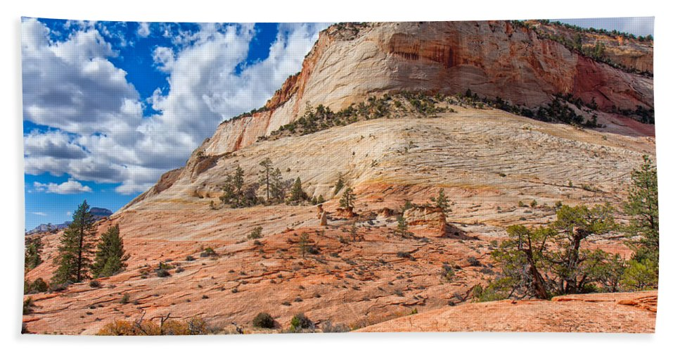 Landscape Hand Towel featuring the photograph Climb To The Sky by John M Bailey