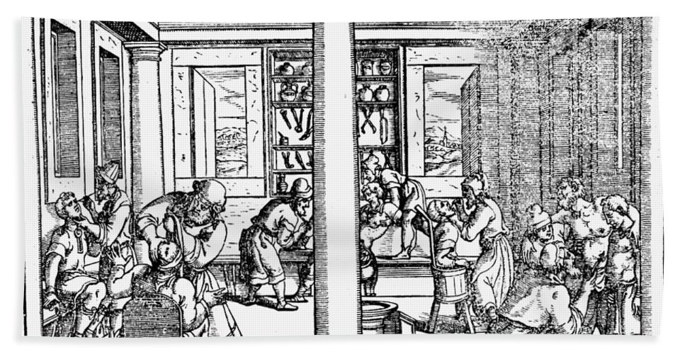1550 Bath Sheet featuring the photograph Clinic Scene, 1550 by Granger