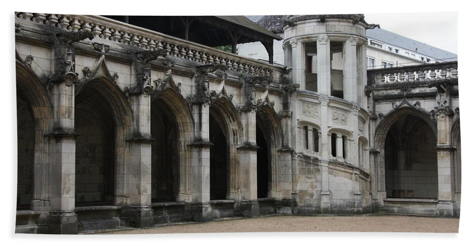 Cloister Bath Sheet featuring the photograph Cloister And Staircase Cathedral Tours by Christiane Schulze Art And Photography