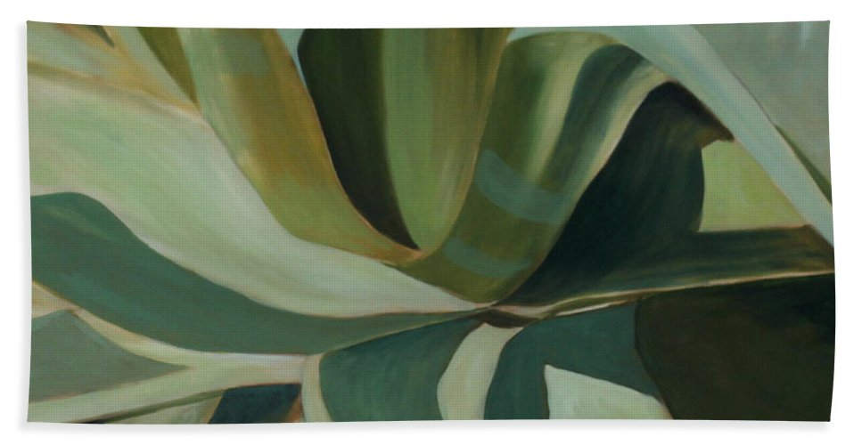 Cactus Hand Towel featuring the painting Close Cactus by Debbie Hart