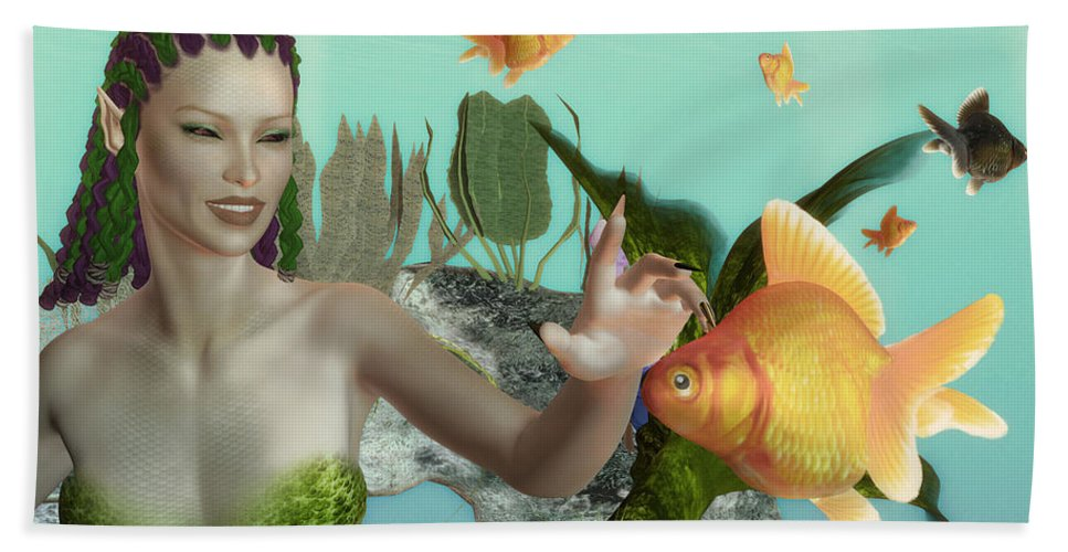 Close Encounter Bath Sheet featuring the painting Close Encounter by Methune Hively