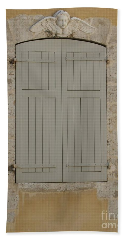 Window Hand Towel featuring the photograph Closed Shutters by Christine Jepsen