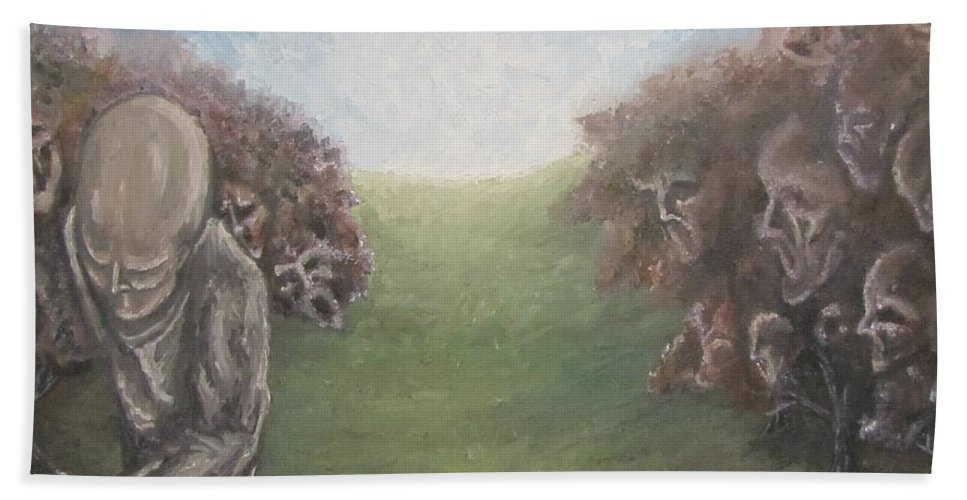 Tmad Hand Towel featuring the painting Closure by Michael TMAD Finney