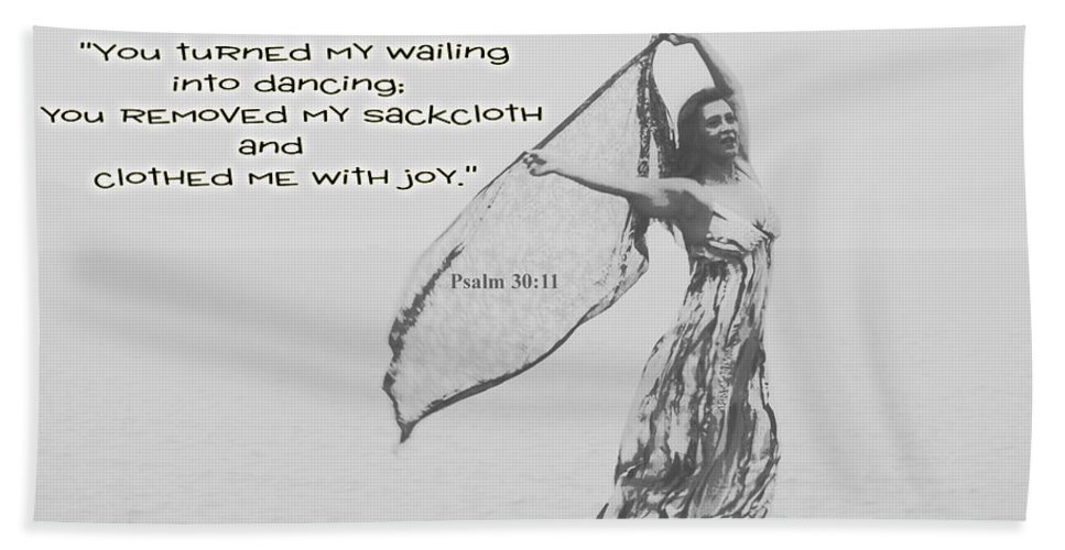 Dancing Hand Towel featuring the photograph Clothed Me With Joy by Leticia Latocki