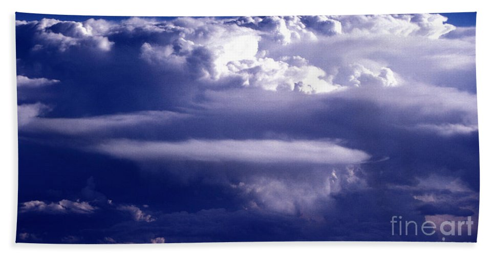 Horizontal Bath Towel featuring the photograph Cloud Study - 56 by Paul W Faust - Impressions of Light