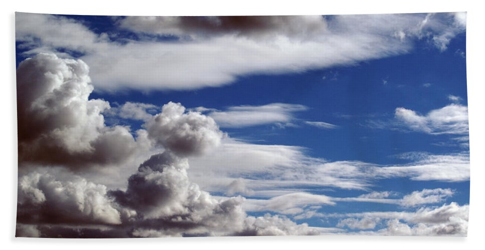 Clouds Bath Sheet featuring the photograph Cloud Ten Enhanced by Ben Upham III
