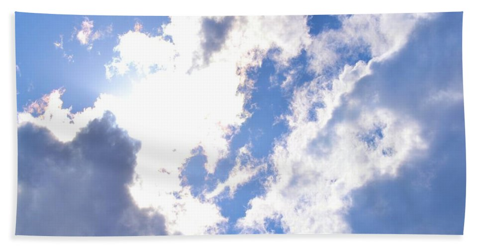 Clouds Bath Sheet featuring the photograph Clouds And Sunshine by Tara Potts