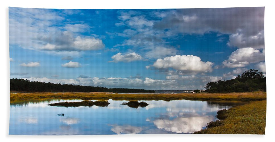 Communion Bath Sheet featuring the photograph Clouds Flying Clouds Floating by Edgar Laureano