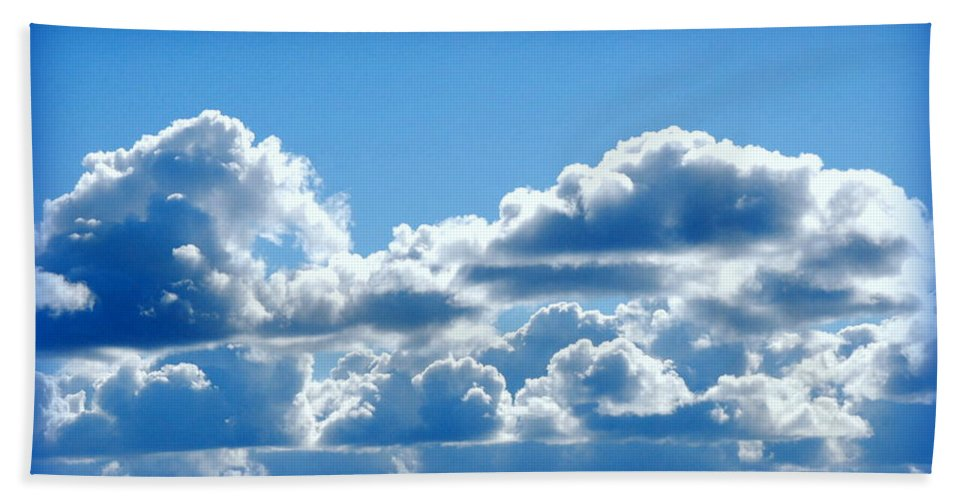 Cloud Hand Towel featuring the photograph Clouds Of Glory II by Kathy Sampson