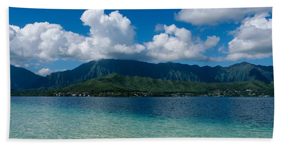 Photography Bath Sheet featuring the photograph Clouds Over An Island, Hana, Maui by Panoramic Images