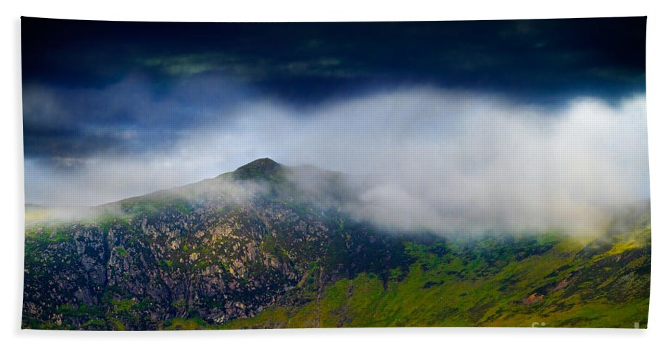 Lake District Bath Sheet featuring the photograph Clouds Over Bull Crag And Maiden Moor by Louise Heusinkveld