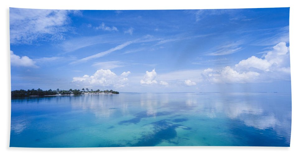 Photography Hand Towel featuring the photograph Clouds Over The Ocean, Florida Keys by Panoramic Images