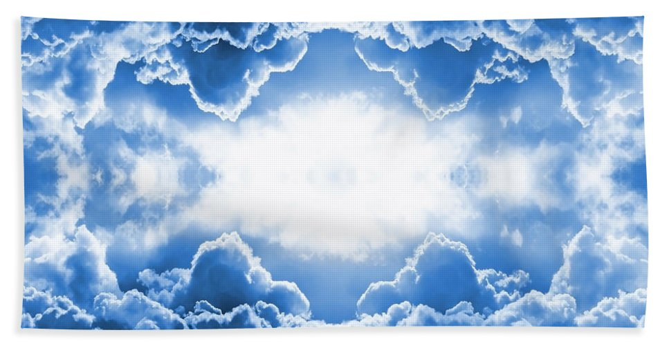 Moody Hand Towel featuring the digital art Clouds by Steve Ball