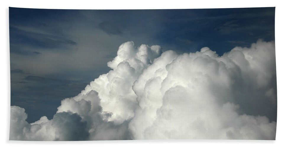 Cloud Hand Towel featuring the photograph Clouds by Tracy Winter
