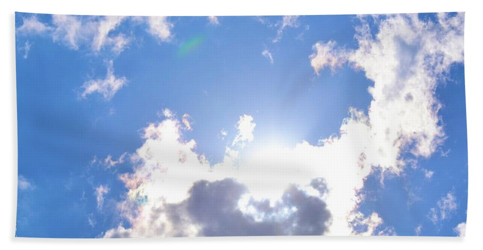 Clouds Bath Sheet featuring the photograph Clouds With Sunshine by Tara Potts