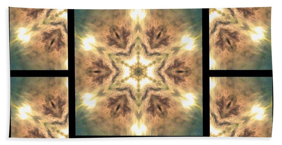 Sacredlife Mandalas Hand Towel featuring the digital art Cloudscape Fire Page by Derek Gedney