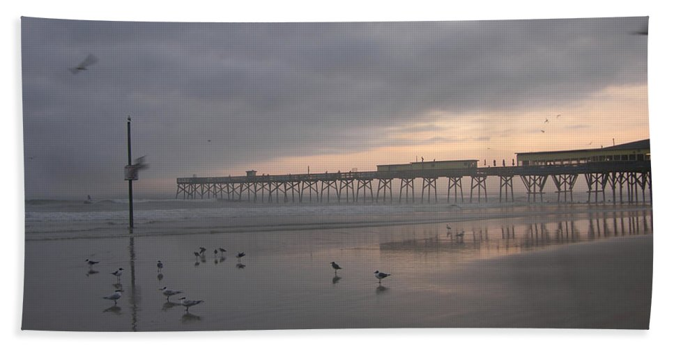 Art Hand Towel featuring the photograph Cloudy Dawn 1 3-15-15 by Julianne Felton
