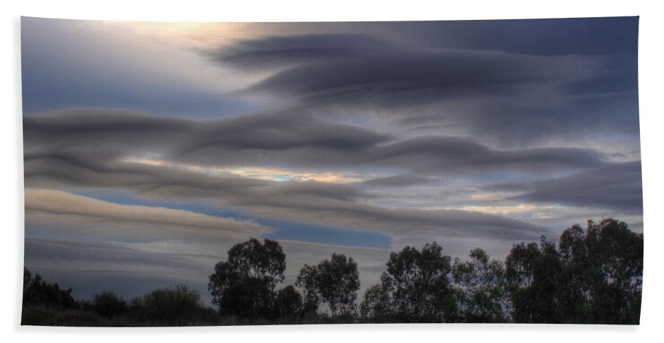 Clouds Bath Sheet featuring the photograph Cloudy Day 4 by Jacklyn Duryea Fraizer