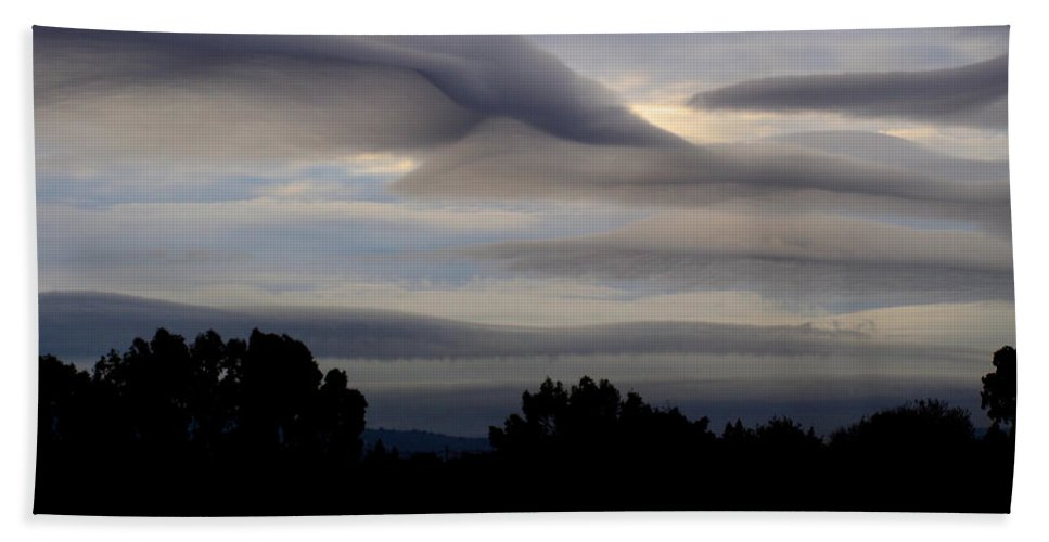 Storm Clouds Bath Sheet featuring the photograph Cloudy Day 7 by Jacklyn Duryea Fraizer