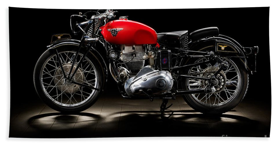 Motorcycle Hand Towel featuring the photograph Cm Grifone 500 by Frank Kletschkus