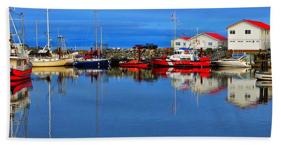 Coast Guard Bath Sheet featuring the photograph Coast Guard At French Creek by Ron Ritchey