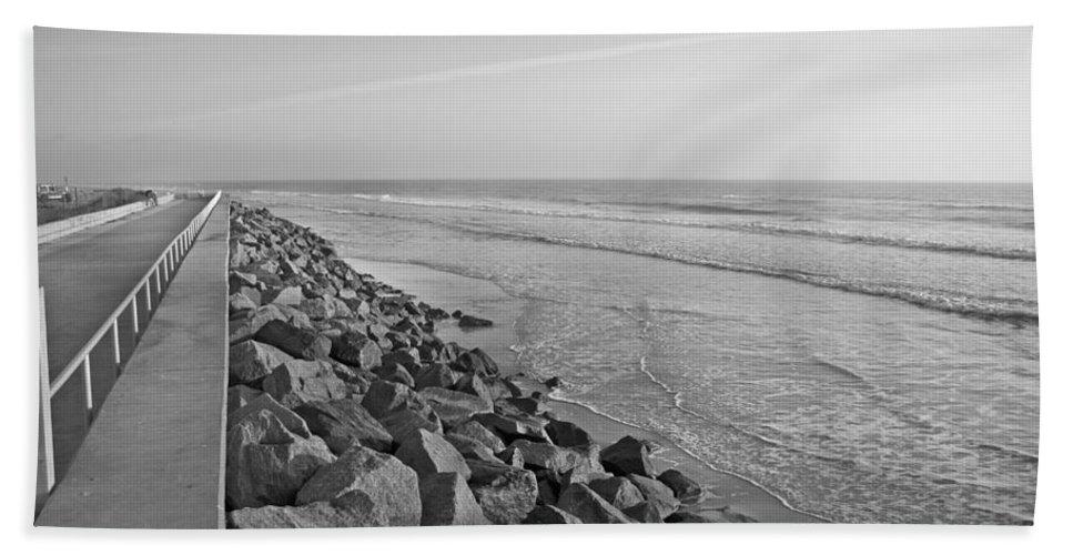 Saint Hand Towel featuring the photograph Coastal Lines by Betsy Knapp
