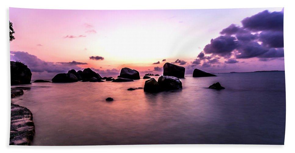 Sunrise Hand Towel featuring the photograph Coastal Sunrise by Jijo George