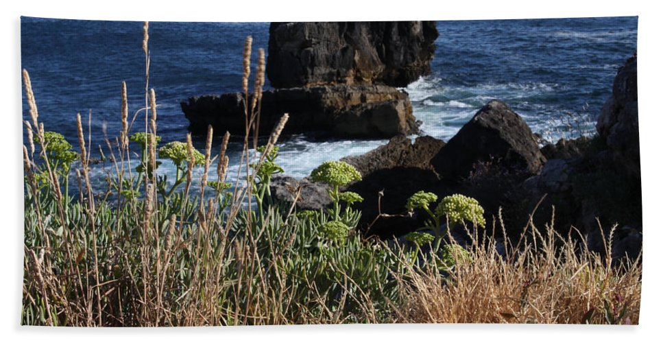 Ocean Hand Towel featuring the photograph Coastal View From Cascais by Darleen Stry
