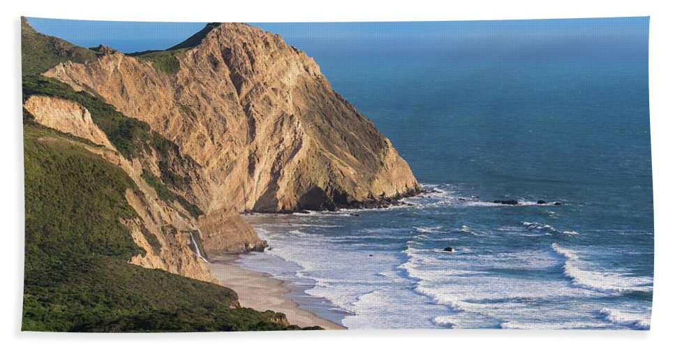 Beach Hand Towel featuring the photograph Coastline At Point Reyes National Sea by Josh Miller Photography