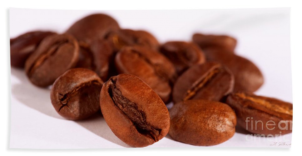 Coffee Bath Sheet featuring the photograph Coffee Beans by Iris Richardson