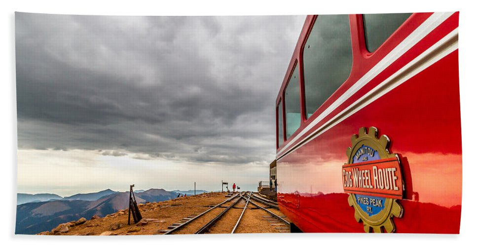Cog Railway Hand Towel featuring the photograph Cog At 14115 Feet by Jeff Stoddart