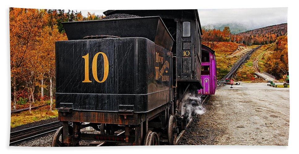 Transportation Bath Sheet featuring the photograph Cog Railway by Marcia Colelli