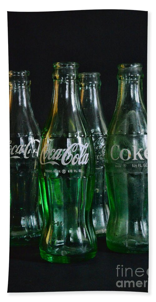 Paul Ward Hand Towel featuring the photograph Coke Bottles From The 1950s by Paul Ward