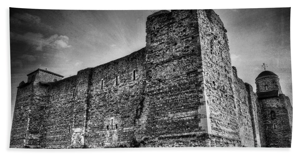 Abbey Hand Towel featuring the photograph Colchester Castle by Svetlana Sewell