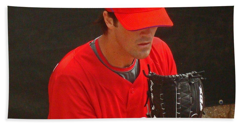 Baseball Bath Sheet featuring the photograph Cole by David Rucker